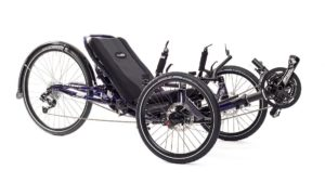 Catrike Dumont full suspension trike in purple frame color