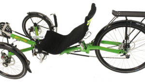 trident trikes trekker recumbent trike in green frame color