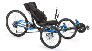 ICE trike Adventure recumbent trike in electric blue