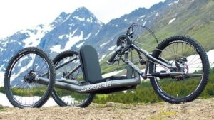 Lasher Sport All Terrain Handcycle nin grey frame color