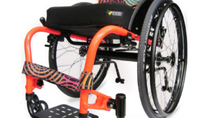colours saber everyday wheelchair in orange frame color
