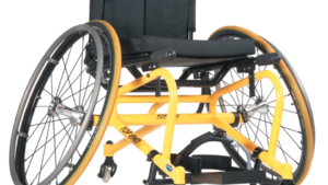 Invacare Top End Pro Tennis Wheelchair in yellow frame color