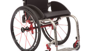 TiLite ZRA wheelchair in silver frame color