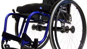 colours spazz G wheelchair in blue frame color