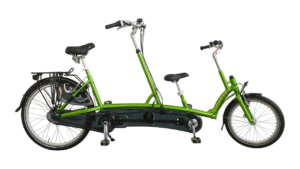 Van Raam Kivo Tandem in lime green frame color